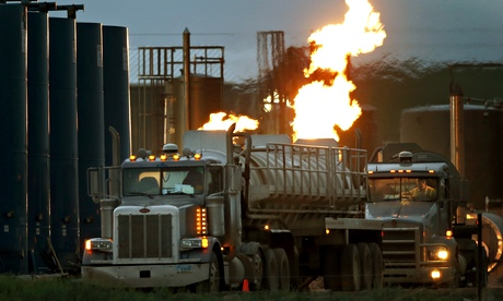 Fracking site in North Dakota