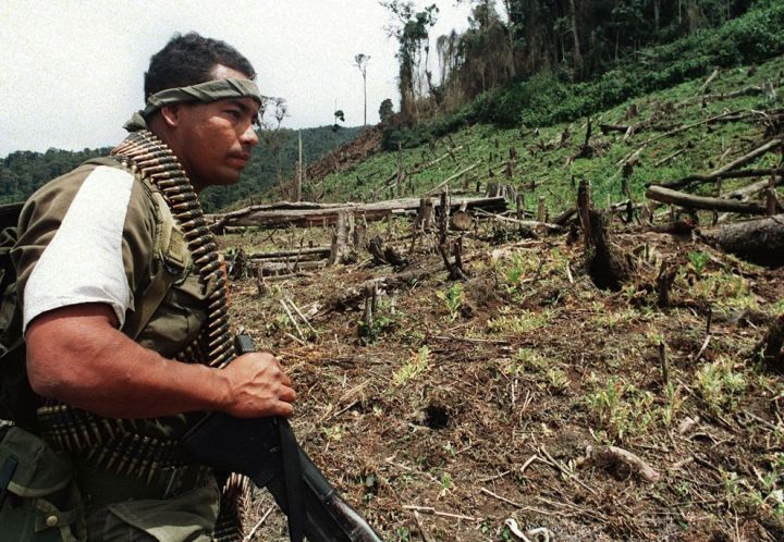 colombia farc soldier 1992 national geographic